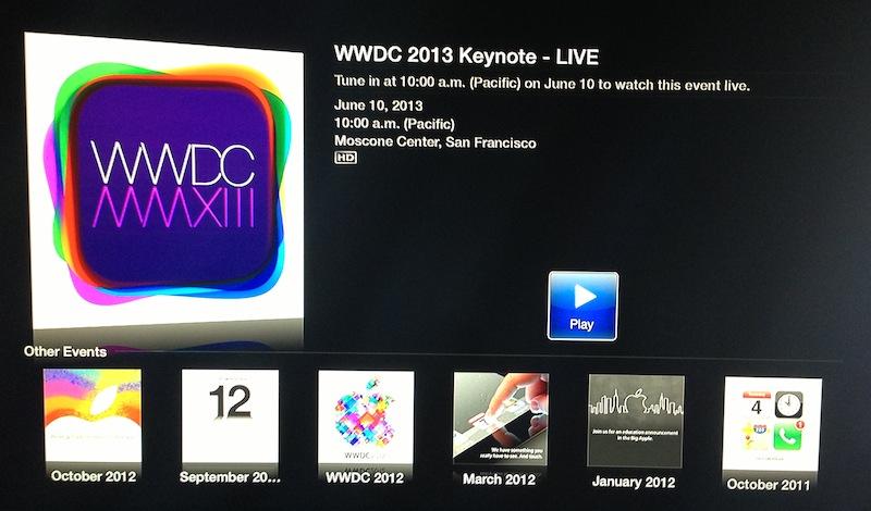 wwdc 2013 apple tv